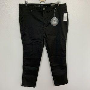 Avenue Pants Skinny Black Plus Sz: 20 Petite